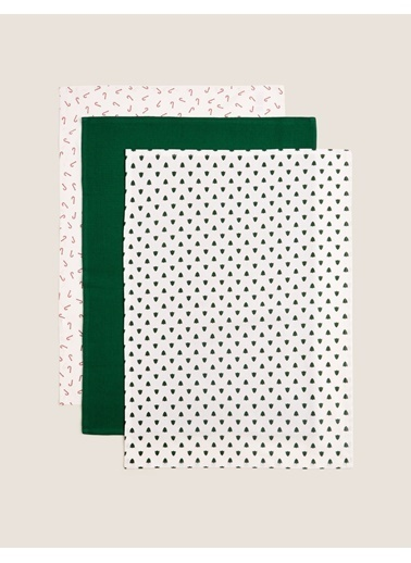Marks & Spencer 3'lü Desenli Kurulama Bezi Seti Renkli
